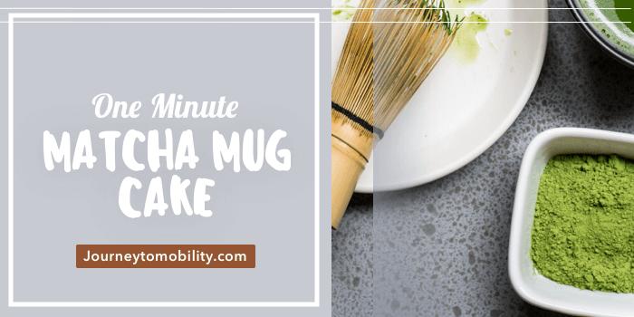 healthy matcha mug cake
